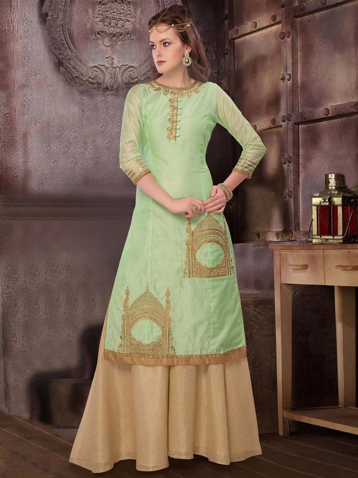 Outfit is a novel way to spruce up your personality. Item code: SLUM04 http://www.bharatplaza.com/women/readymade-suits.html.