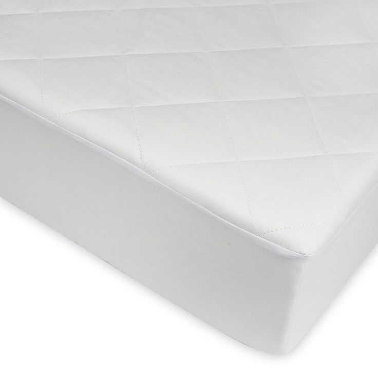 Century Home Fashions Signature Collection Quilted Silk Mattress Pad White - C700-145