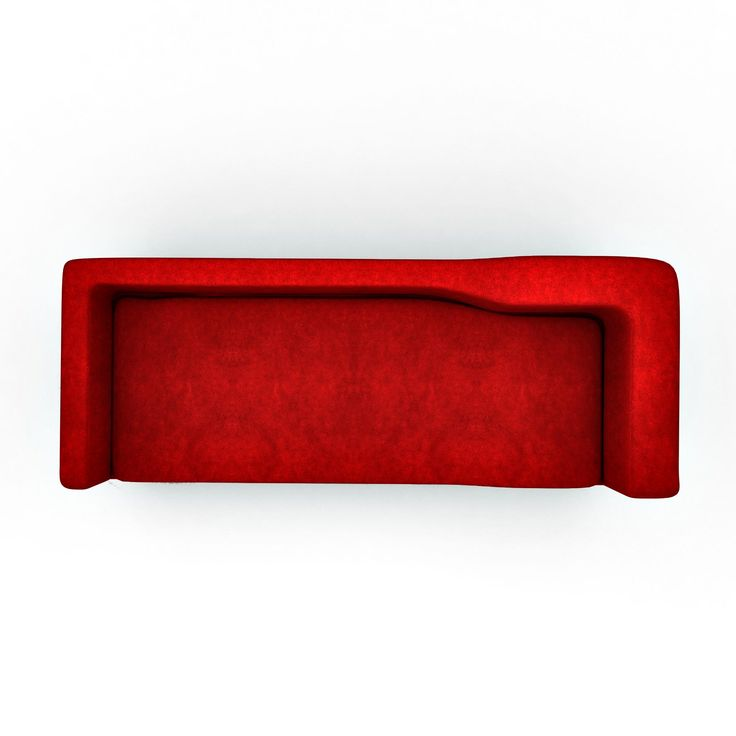 Apollo Modern Sofa In Elegant Red Color Top View Elegant