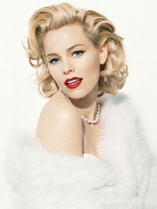 "Elizabeth Banks, photographed in an homage to Marilyn Monroe, whose letters she reads in the forthcoming documentary ""Thoughts from Fragments""."