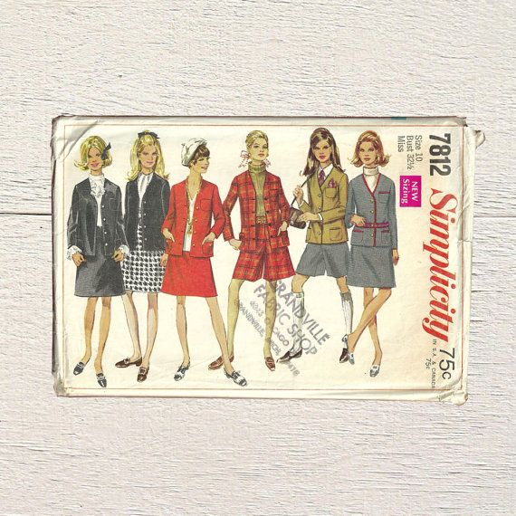 New in Posy Patterns School Uniform Pattern  Simplicity 7812  Pattern for Jacket Skirt and Mini Pantskirt  School Girl Uniform  Prep School Sewing Pattern by PosyPatterns