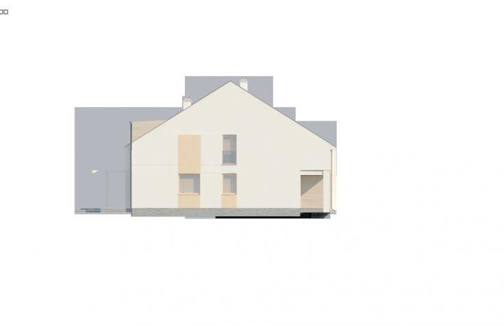 Projekt domu bliźniaczego Zb13 - elewacja 3