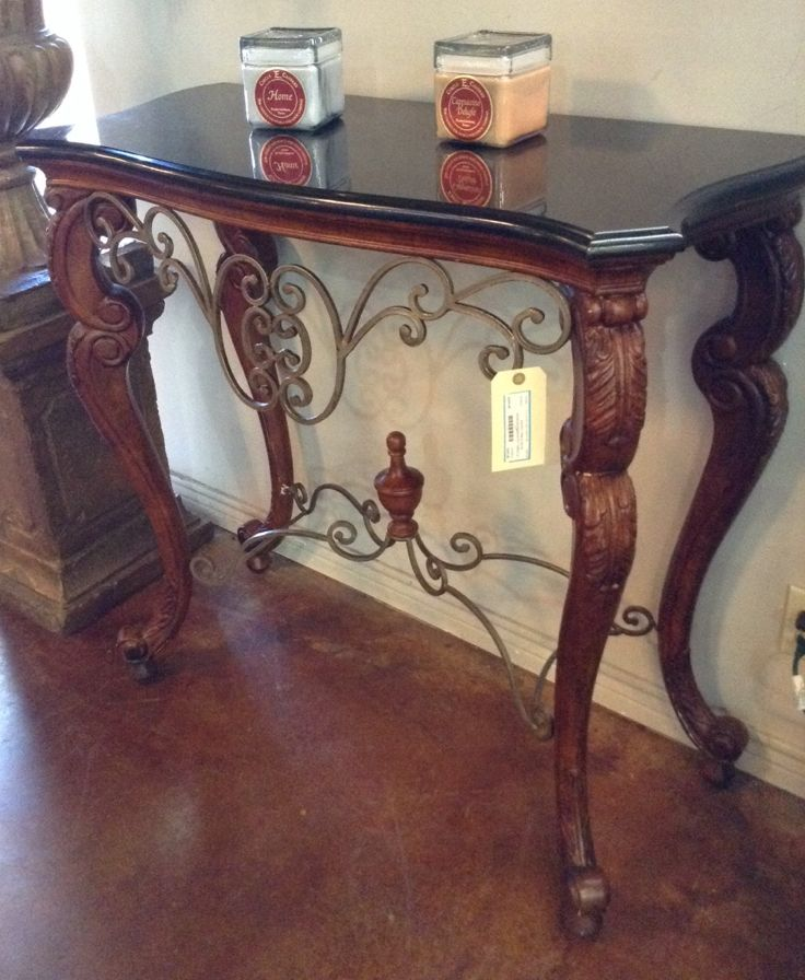 Entry Table   Iron/Wood Entry Table W/ Marble Top   $288.95