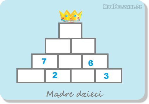 Rachunek pamięciowy dodawanie i odejmowanie liczb do 100 - piramida - Mądre dzieci