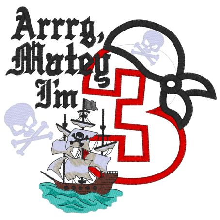 Pirates (60) 3 Applique 6x10