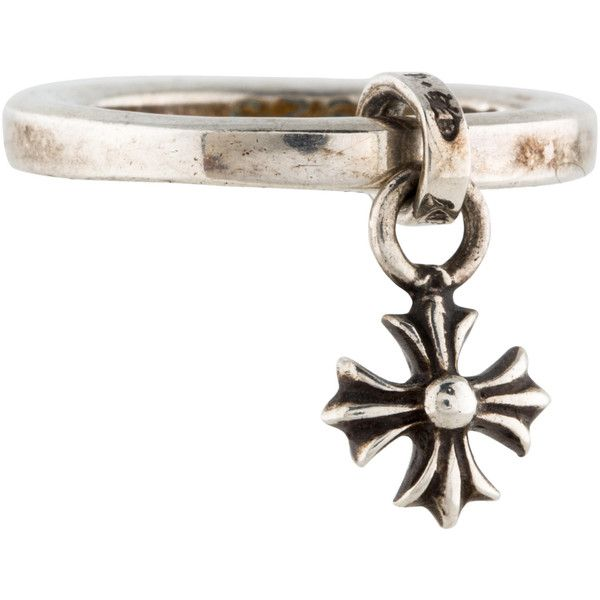 Pre-owned Chrome Hearts Celtic Cross Charm Ring ($245) ❤ liked on Polyvore featuring jewelry, rings, sterling silver jewellery, sterling silver jewelry, chrome hearts ring, sterling silver celtic jewelry and preowned jewelry