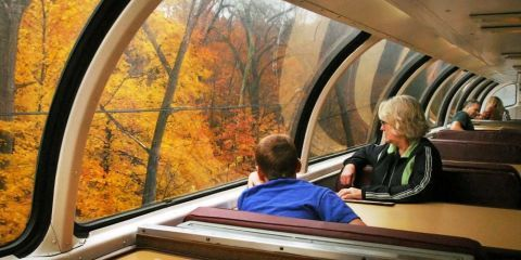 Amtrak's Great Dome Car Returns to the Northeast for Fall Foliage Runs