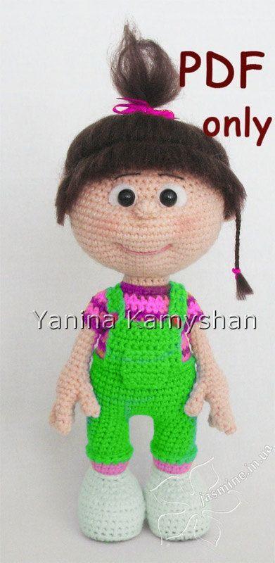 Little baby girl, crochet doll, PDF pattern