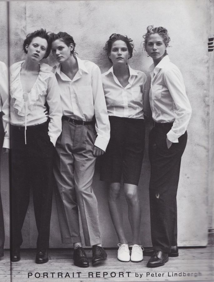 Vogue IT - Portrait Report - Martina Klein, Mini Anden, missy rayder, Caroline Eggert, Karen Elson, Natalia Semanova, Olga Otrokhov - May 1997  Photos PETER LINDBERGH