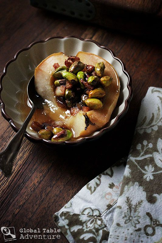 Honey & Pistachio Stuffed Quince (Uzbekistan)