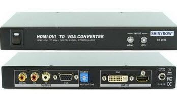HDMI / DVI Digital Audio Video to Analog VGA Converter is a productive device at low price.