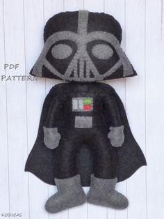 PDF pattern to make a felt Dark Vader and Princess by Kosucas