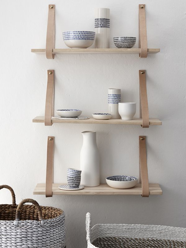 #home #decor #decord #inspiration #design #scandinavian #shelves #objects #wood #leather