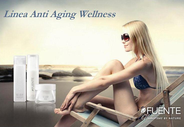 """D'estate, con il caldo e i lavaggi frequenti, i capelli possono """"invecchiare"""" cioè perdere parte dei loro nutrienti e minerali, diventando più fragili e spenti. Ma questo succede solo a chi non usa la linea Anti Aging di Fuente! Perchè solo Fuente ha creato prodotti a base organica e arricchiti di vitamine e minerali che curano i capelli in maniera DAVVERO naturale. Tra pochissimo si andrà in spiaggia: proteggiamo i nostri capelli!"""