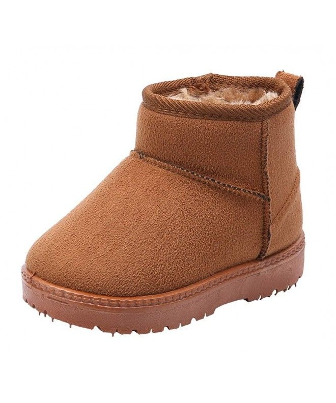 Kids' Boys' Girls' Outdoor Warm Fur Lined Winter Snow Boots Ankle Bootie  Toddler Little Kid - Khaki - CQ18I4U7SG9   Kids snow boots, Boys winter  boots, Girls snow boots