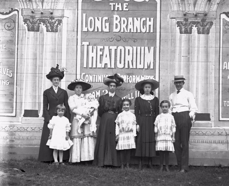 Time to hop to it, dust off our bonnets and really ENJOY the long weekend! We think this might be the Williams family, around 1915, at the Long Branch Theatorium near Lakeshore Blvd.