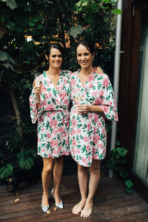 Bridesmaids Robes / Floral / Dressing gown / Bridal / by PosyRobes