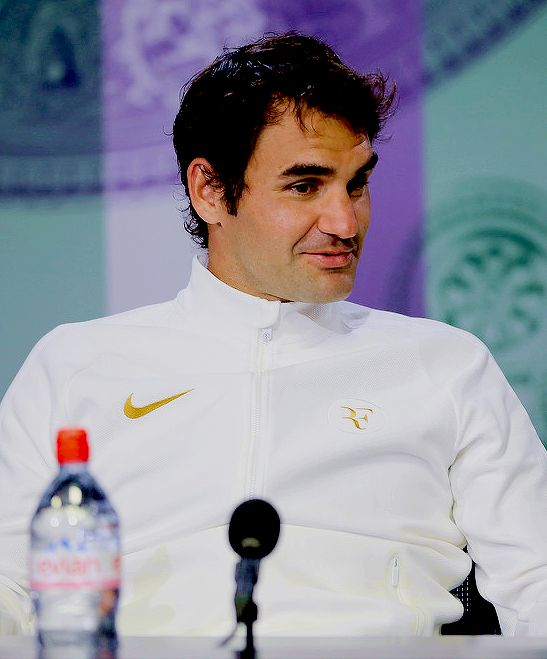 """""""""""Roger Federer during a Wimbledon press conference in London, England on July 8, 2016 """" """""""