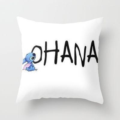 OHANA Throw Pillow by Sjaefashion - $20.00