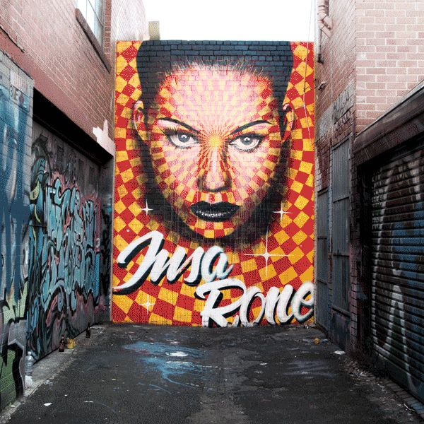 GIF-ITI – A new animated Street Art piece by INSA x RONE