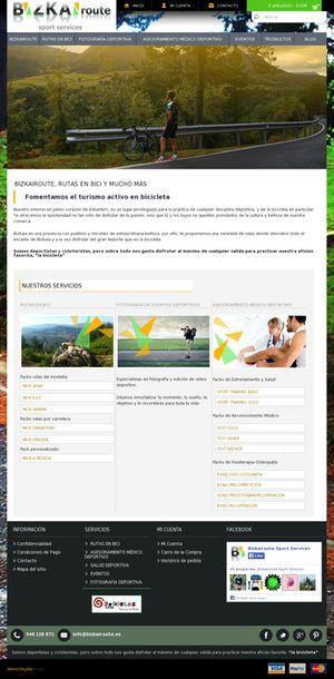 Imagen de la pagina principal de Bizkairoute, parte del diseño web realizado en Bilbao por Denocheydia.
