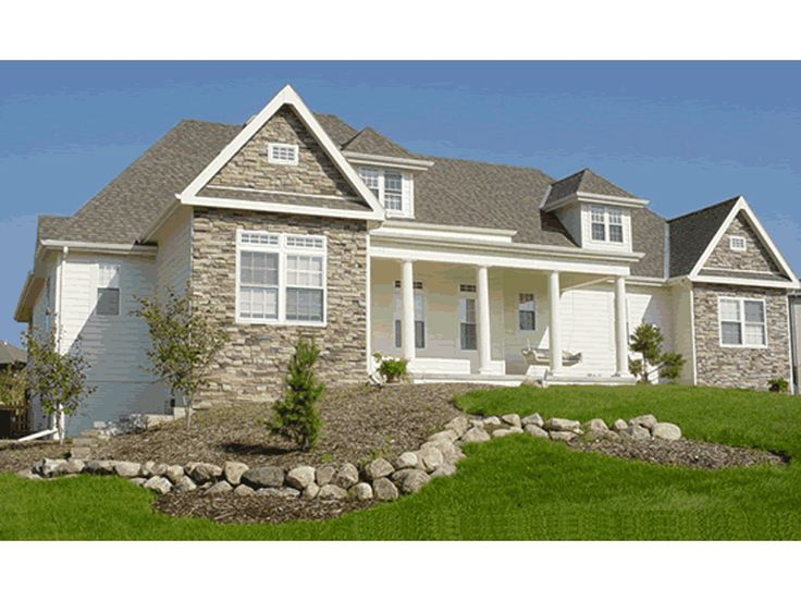 Gleneagles country french home best columns porch and for Farm cottage house plans