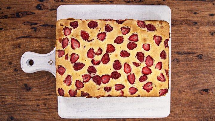 Strawberry Picnic Cake