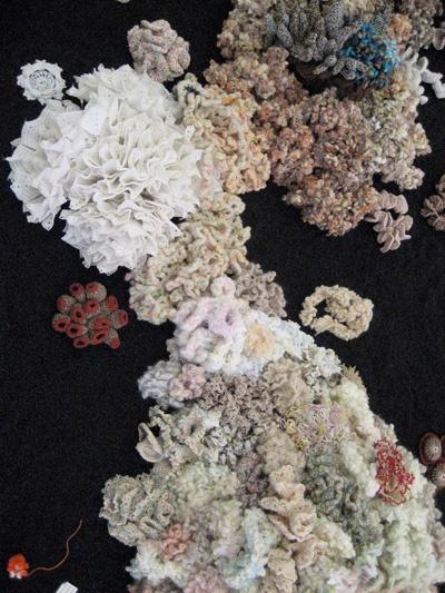 Hyperbolic Coral Reef -- a textile project begun by Margaret Wertheim