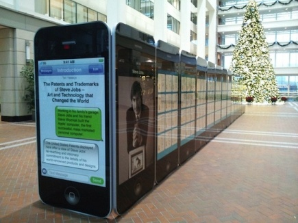 Nice installation with over 300 patents of Apple since 1976.