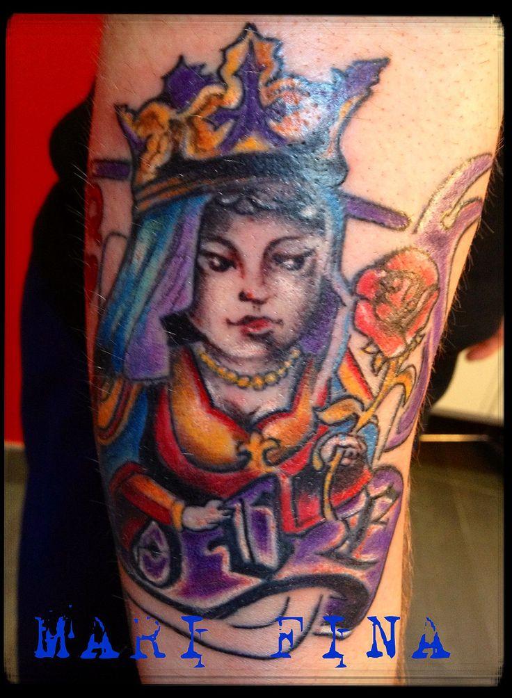 Tattoo artist : Mari Fina  Categoria: cartoon/ tatuaggi a colori http://www.subliminaltattoo.it/prodotto.aspx?pid=01-TATTOO&cid=18  #donnadicuori #reginadicuoritattoo #cartoontattoo #colortattoo #marifinatattooartist #subliminaltattoofamily #queenofheartstattoo #cardtattoo #marifina