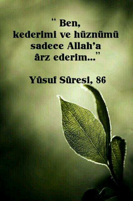 Ayet # Yusuf suresi 86.ayet