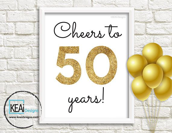 Diy 50th Birthday Decoration Ideas