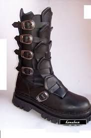 Resultado de imagen para botas goticas para hombre