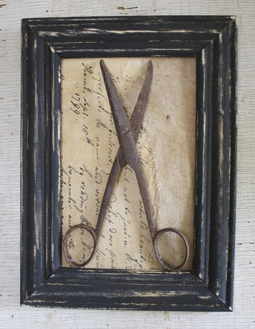 Frame It!!...a fine farmhouse idea for anything old. Grandmas spoons or the crank egg beater with her picture behind it.