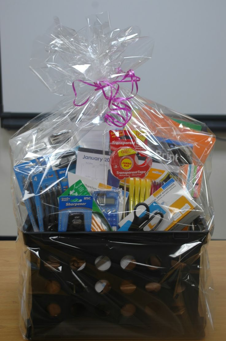 Handmade Basket Kits : Office supplies gift baskets sometimes practical gifts