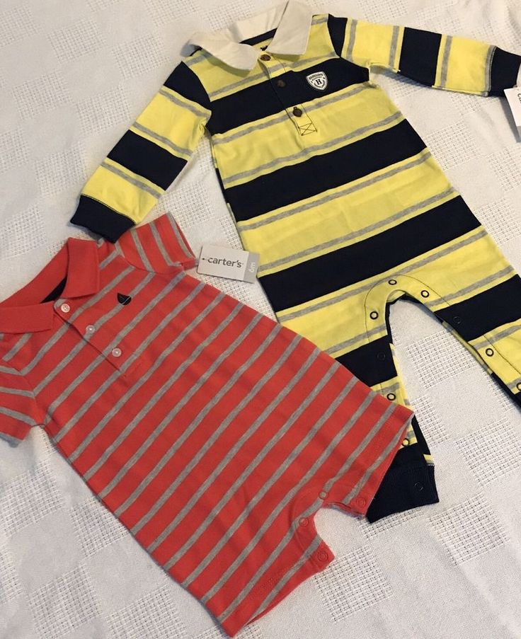 Original Carter's Clothing Baby Boy Outfit 1pcs Jumpsuit/Romper 6 &12 months NWT #Carters #DressyEveryday