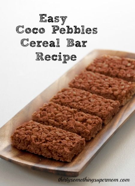 Easy Coco Pebbles Cereal Bars Recipe, so easy and so delicious!
