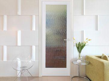 Rainy Day Decorative Interior Glass Door