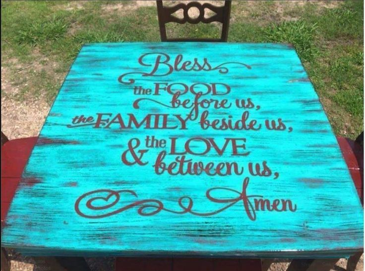 Love this Kitchen Table top idea.  Paint the top beautiful and add a Decal.  Amazon has a lot.