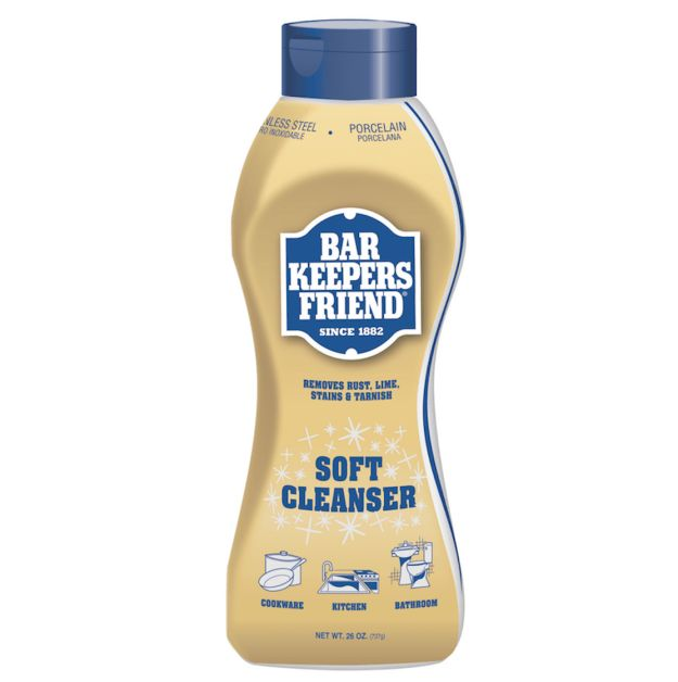 Rely on Bar Keepers Friend when it comes to removing stains and rust. | 37 Seriously Amazing Tips Every Clean Freak Needs To Know