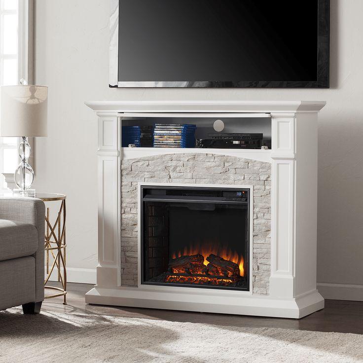 Southern Enterprises Seneca Electric Media Fireplace - in Family Room
