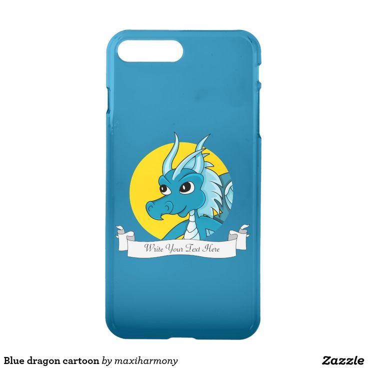 Blue dragon cartoon iPhone 7 plus case