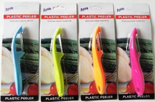 Plastic Vegetable Peeler (48 Pack) by DDI. $109.62. High quality items at low prices to our valued customers.. Please refer to the title for the exact description of the item.. All of the products showcased throughout are 100% Original Brand Names.. 100% Satisfaction Guaranteed.. We proudly offer free shipping. We can only ship to the continental United States.. Plastic Vegetable PeelerBlister Carded. Assorted Colors. Stainless Blade. 6.75 Inch Long. Assorted Colors to a Case.
