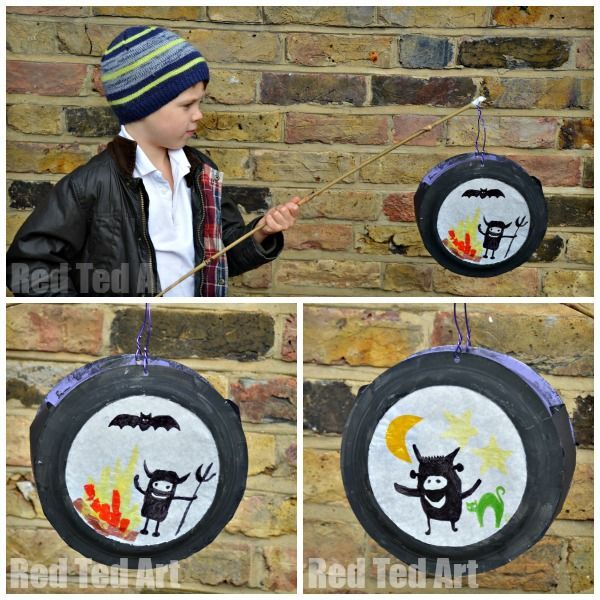 Paper Plate Crafts - what a great use for Paper Plates - make these cool design your own paper lantern. Love the use of paper plates, silhouettes and pens. Wonderful craft for bonfire night, halloween or Lanternen Laufen!
