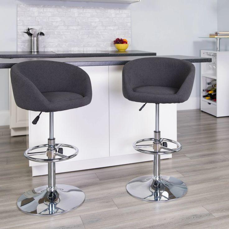 Carson Carrington Grenaa Adjustable Bar Stool Black Fabric Google Shopping Adjustable Bar Stools Bar Stools Flash Furniture
