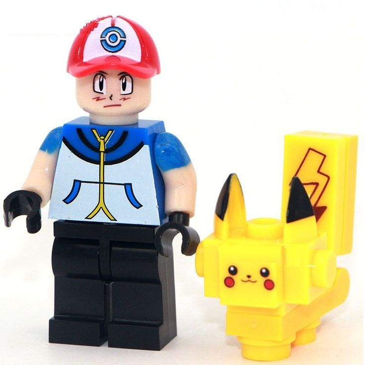 Pokemon Pikachu & Ash Ketchum Minifigures Compatible With LEGO TOY 2016 minifigs