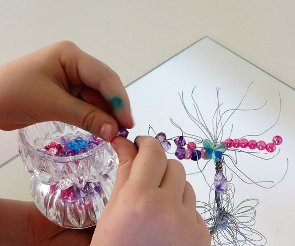 An invitation to create-Wire and bead tree from Childhood 101