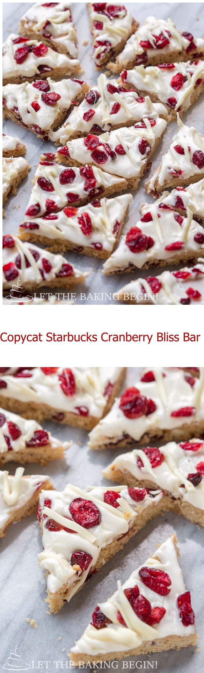 Copycat Starbucks Cranberry Bliss Bars - copy of the original Cranberry Bliss Bar
