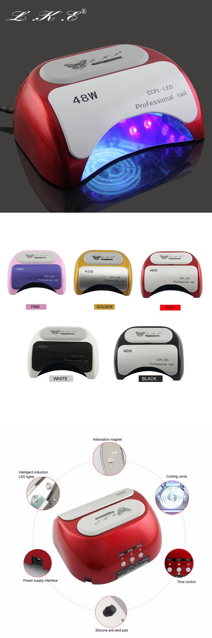 [Visit to Buy] Hot sale 48W CCFL Nail Dryer Machine UV Lamp for Nail Gel polish Nail Art With 10s 20s 30s Timer #Advertisement