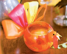 Glowbird ~ Create a flock of these bright votive holders: they're a great project for kids and, filled with battery-operated tea lights, a luminous addition to your table.: Holiday, Thanksgiving Crafts, Thanksgiving Idea, Candle Holders, Thanksgiving Fall, Turkey Votive, Craft Ideas, Turkey Candle